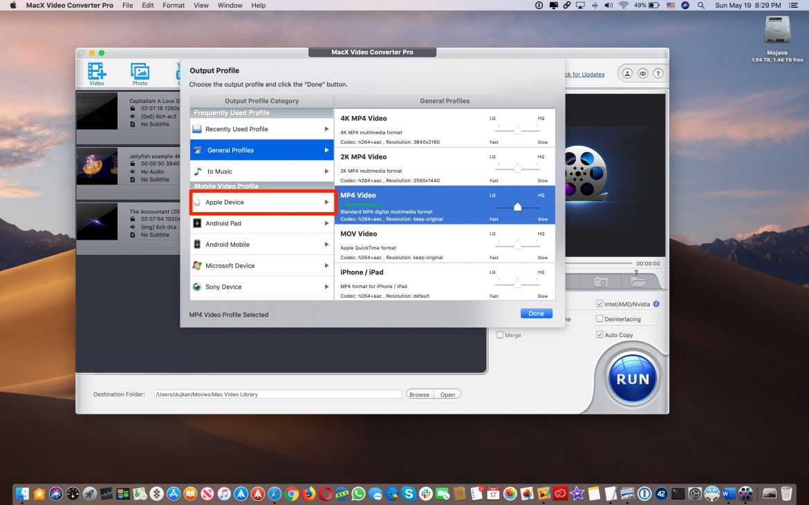 How to convert video to mac OS